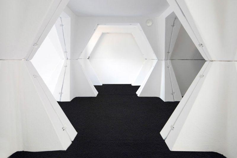 HEXACUBE Georges Candilis y Anja Blomstedt arquitectura futurista modular 70 interior