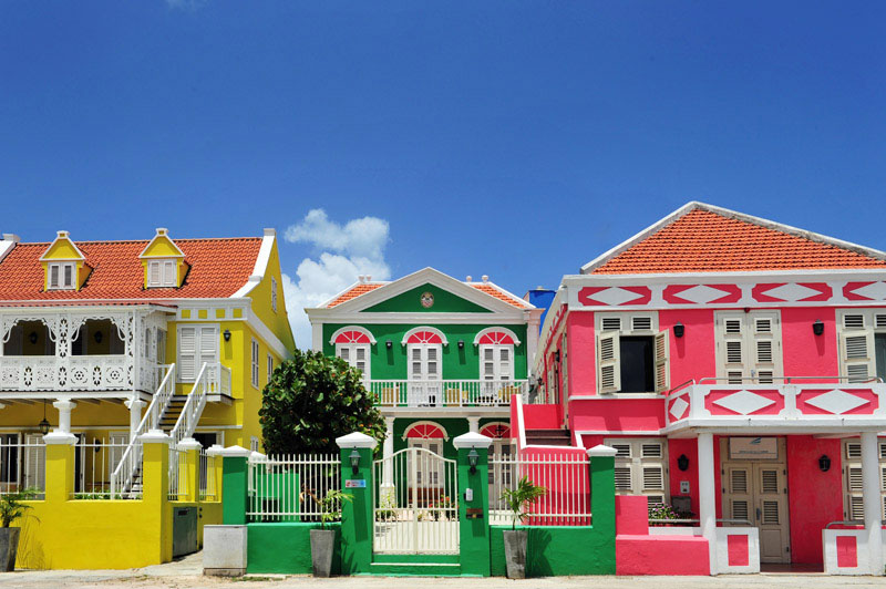 arquitectura holandesa _curazao_fachadas