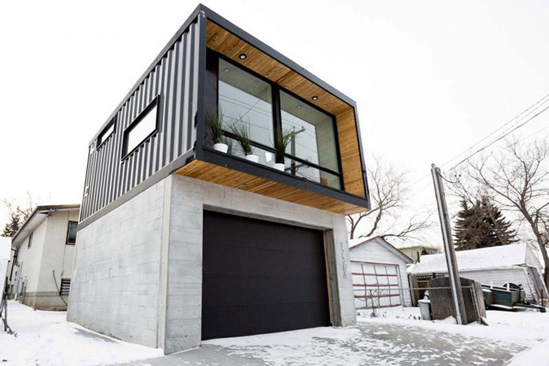 Arquitectura_Honomobo Container Homes_imagen de cabaña