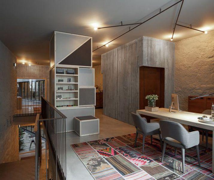 Arquitectura_Hotel armazem_vista  sala de estar