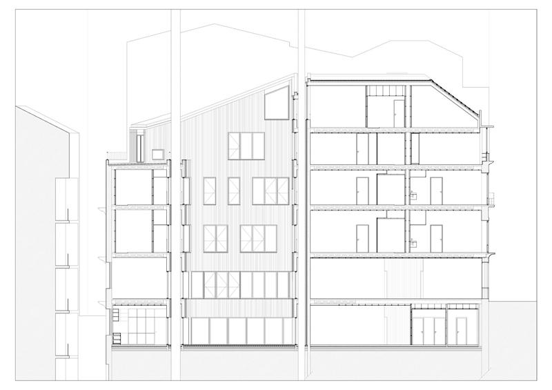 Arquitectura_Hotel armazem_seccion