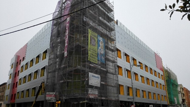 arquitectura_Hotel Ciudad de Binéfar_construcción