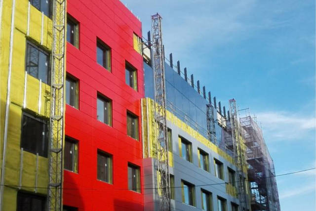 arquitectura_Hotel Ciudad de Binéfar_fachada ventilada