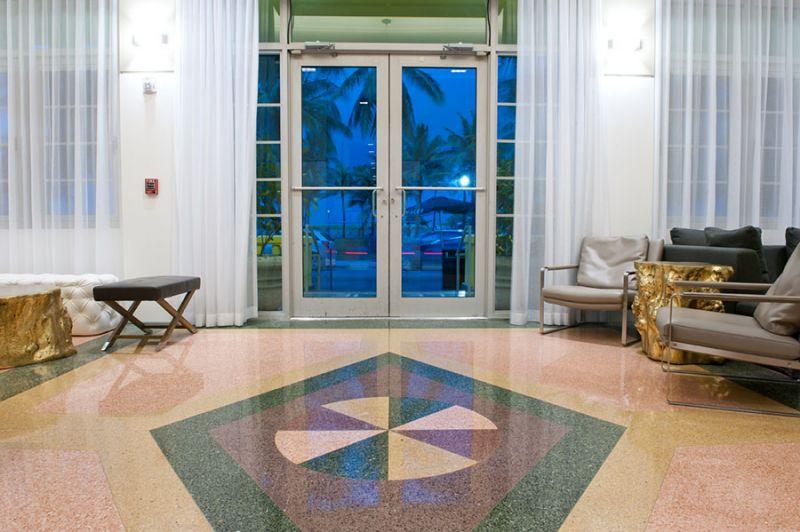 Arquitectura_Hotel Leslie_Art decó_Miami Beach_ detalle suelos