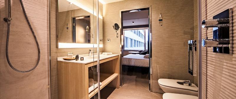 arquitectura, arquitecto, diseño, design, Keraben Grupo, cerámica, revestimiento, interiorismo, interior, Hotel Cuzco Madrid, colección Future, tendencia industrial, lappato