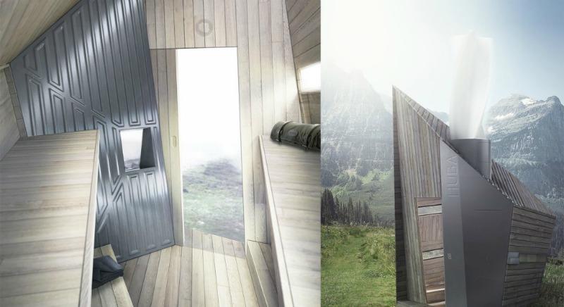 arquitectura, arquitecto, diseño, design, sostenible, ecológico, ecología, Malgorzata Blachnicka, Huba, cabaña, refugio, montaña, reciclado, reciclar, eficiente, alpino, turismo, vacaciones