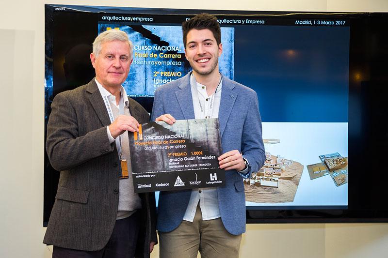 entrega premios II edicion concurso PFC arquitecturayempresa 2 premio