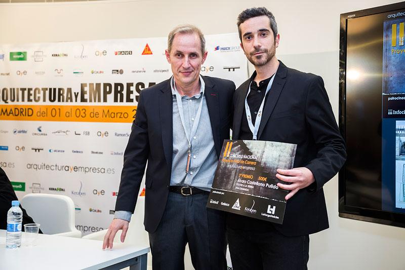 entrega premios II edicion concurso PFC arquitecturayempresa 3 premio
