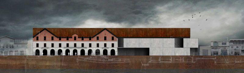 finalista III edicion concurso PDF arquitecturayempresa Museo hotel del mar alvaro larrondo render alzado
