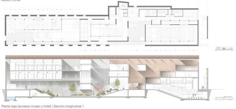 finalista III edicion concurso PDF arquitecturayempresa Museo hotel del mar alvaro larrondo planta