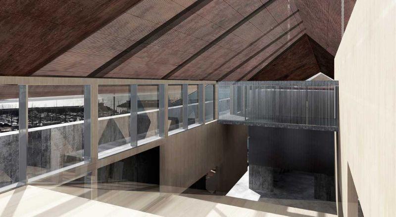 finalista III edicion concurso PDF arquitecturayempresa Museo hotel del mar alvaro larrondo render interior