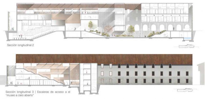 finalista III edicion concurso PDF arquitecturayempresa Museo hotel del mar alvaro larrondo secciones longitudinales
