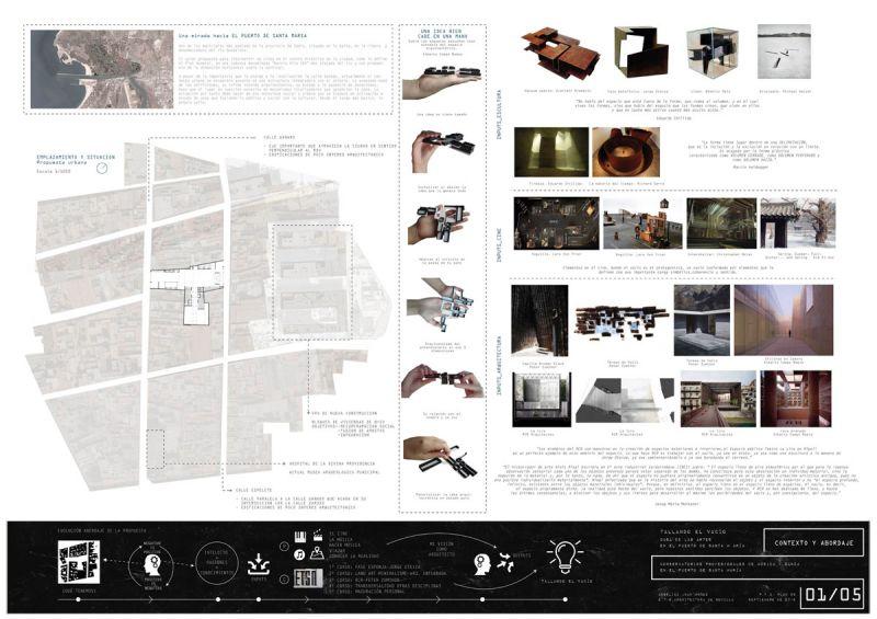 Tallando el vacio Angélica Juan Muñoz 2º premio III edicion concurso pfc arquitecturayempresa panel 1