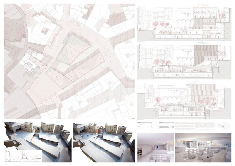 Escenario de Historia equipamiento híbrido en Loja Antonio Manuel Romacho Sáez tercer premio III Edición concurso PFC arquitecturayempresa Panel 04