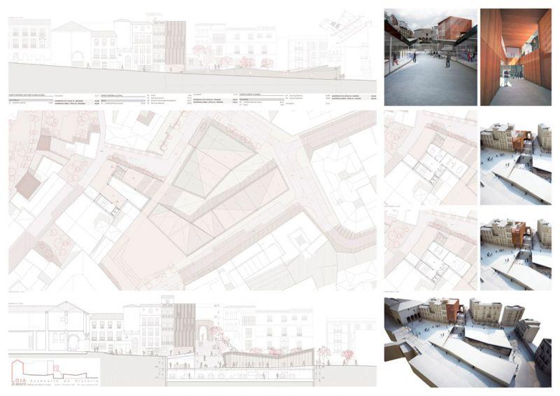 Escenario de Historia equipamiento híbrido en Loja Antonio Manuel Romacho Sáez tercer premio III Edición concurso PFC arquitecturayempresa Panel 05