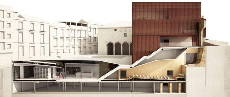 Escenario de Historia equipamiento híbrido en Loja Antonio Manuel Romacho Sáez tercer premio III Edición concurso PFC arquitecturayempresa render 02