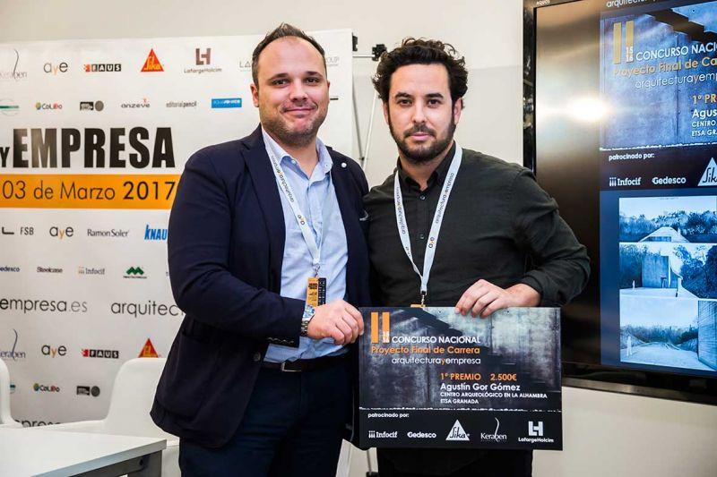 entrega premios II edicion concurso PFC arquitecturayempresa 1 premio