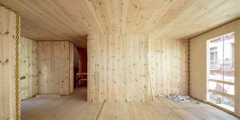 arquitectura impacto cero b720 fermin vazquez arquitectos edificio buenavista fotografia interior en construccion clt