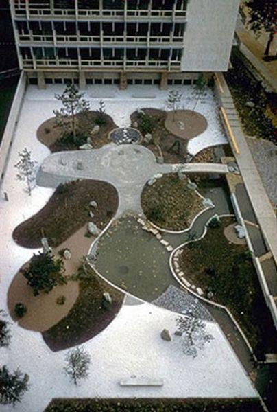 Arquitectura_ Isamu Noguchi_Jardines de la Sede de la UNESCO de París.1958