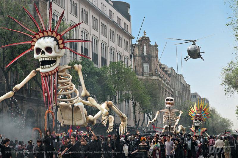 james bond spectre 007 localizaciones de rodaje mexico palacio mineria dia de los muertos
