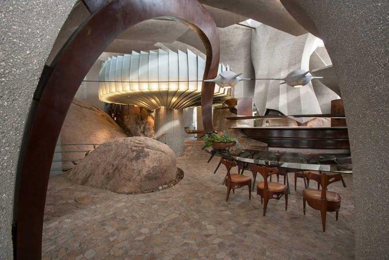 arquitectura high desert house Kendrick Bangs Kellogg fotografía de lance gerber interior comedor 2