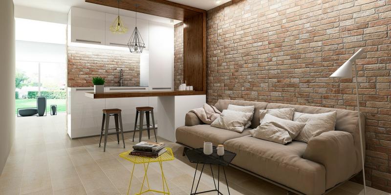 arquitectura, arquitecto, diseño, design, interior, materiales, revestimiento, muros, pared, ladrillo, cerámica, Keraben, wall brick, industrial, retro, decoración