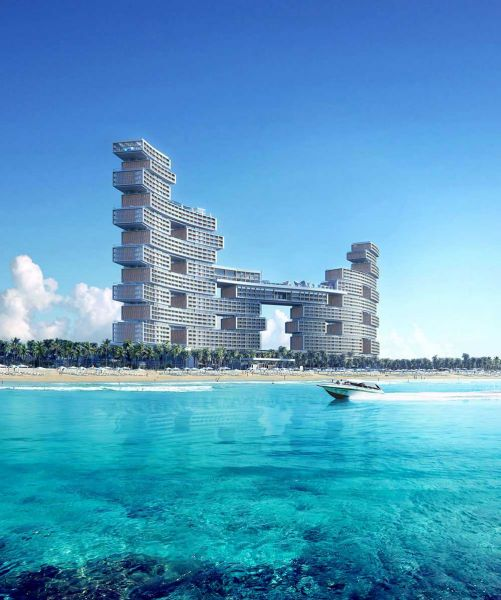 Arquitectura KPF Associantes Royal Atlantis Dubai render bloque mar
