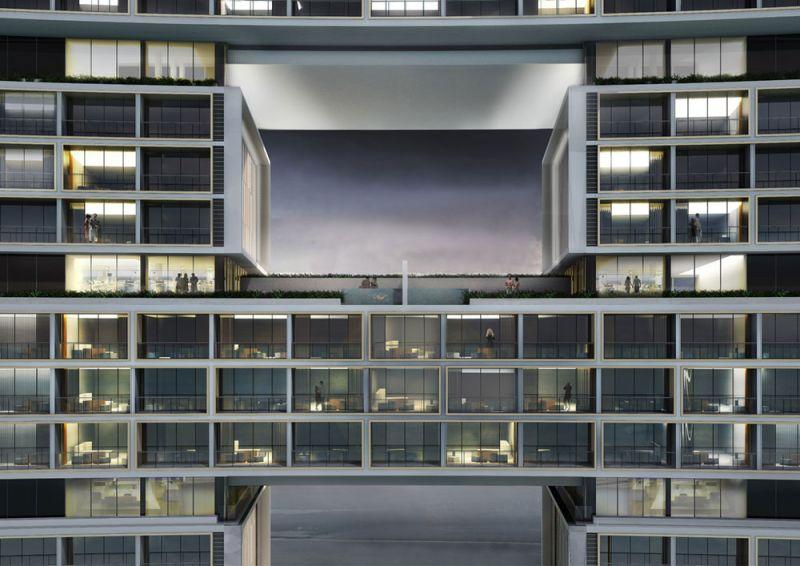 Arquitectura KPF Associantes Royal Atlantis Dubai render terrazas