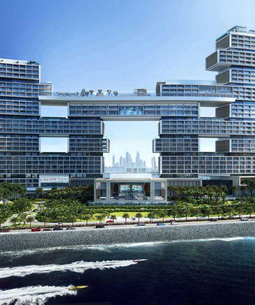 Arquitectura KPF Associantes Royal Atlantis Dubai render puente spa
