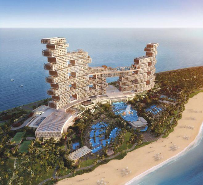 Arquitectura KPF Associantes Royal Atlantis Dubai render aerea