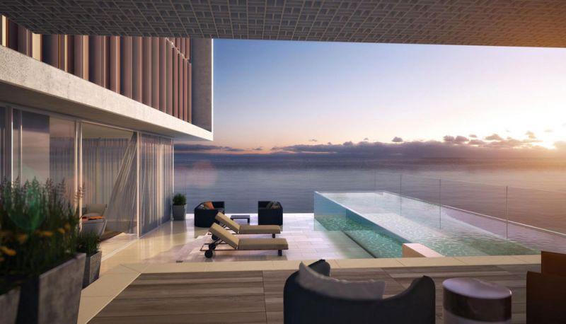 Arquitectura KPF Associantes Royal Atlantis Dubai render suite piscina