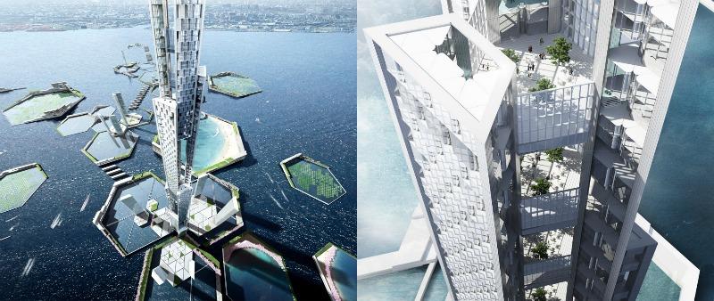 arquitectura, arquitecto, diseño, design, ecología, ecológico, sostenible, futuro, Next Tokio 2045, Japón,  Kohn Pedersen Fox, internacional, proyectos verdes, agricultura, energía solar, energía eólica