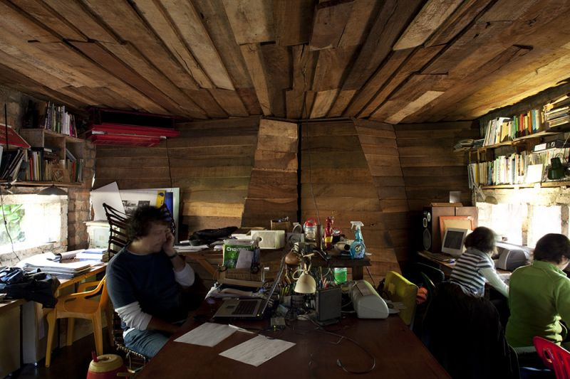 arquitectura ladrillo_gabinete arquitectura_oficina_int