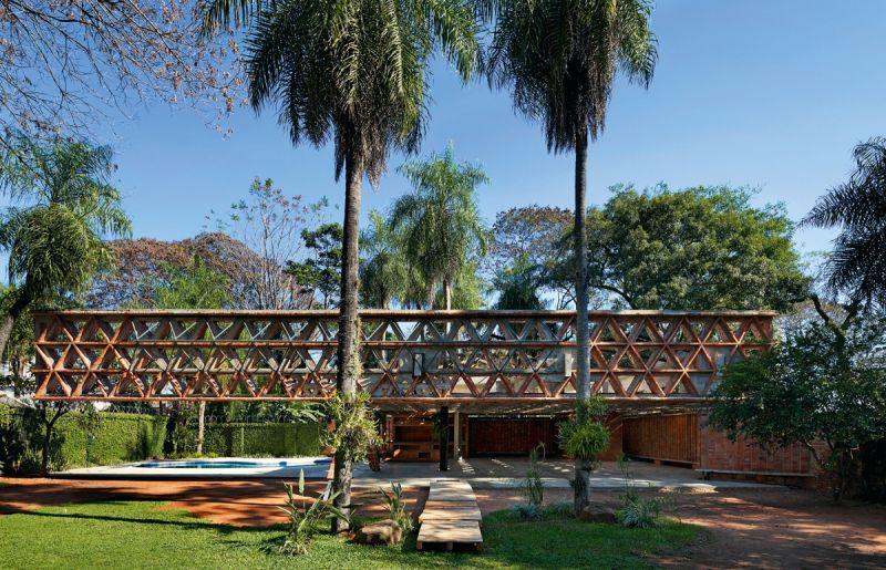 arquitectura ladrillo_gabinete arquitectura_quincho tía coral_alzado pérgola