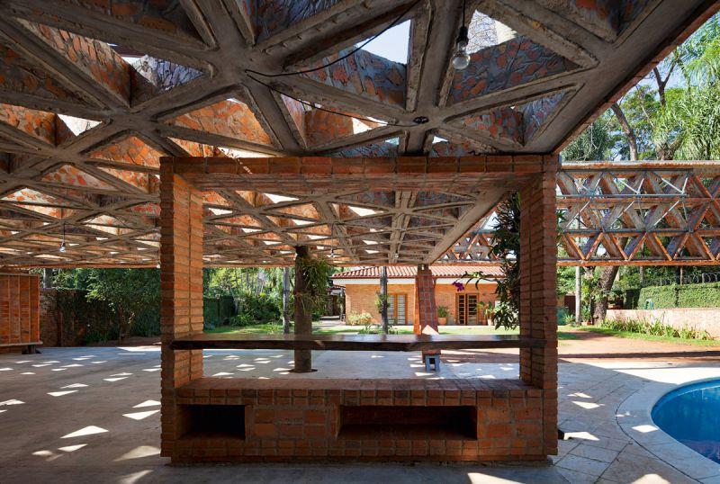arquitectura ladrillo_gabinete arquitectura_quincho tía coral_interior pérgola