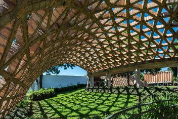 arquitectura ladrillo_gabinete arquitectura_rehabilitación infantil_bóveda jardín