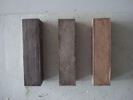arquitectura_ladrillos con lana y algas_muestras_carmen galán y carlos rivera