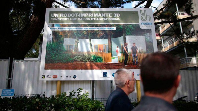 Lafarge Holcim proyecto vivienda impresión 3D yhnova cartel render