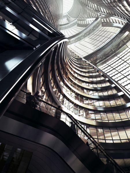arquitectura_Leeza Soho_Zaha Hadid_imagen atrio interior
