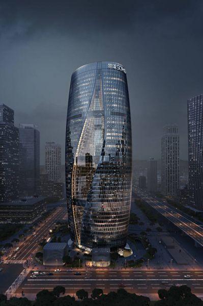 arquitectura_Leeza Soho_Zaha Hadid_imagen nocturna2