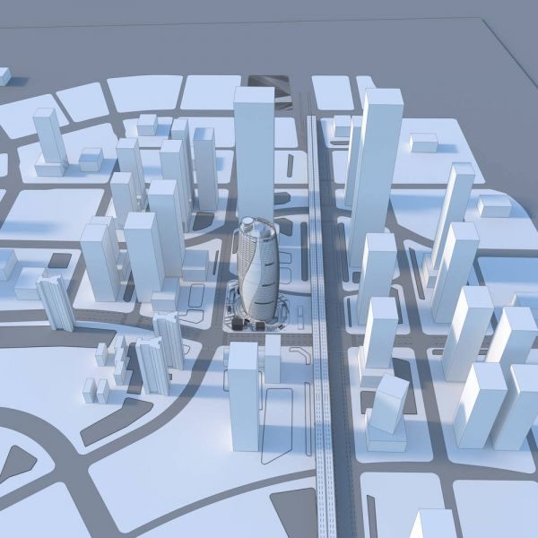 arquitectura_Leeza Soho_Zaha Hadid_maqueta virtual