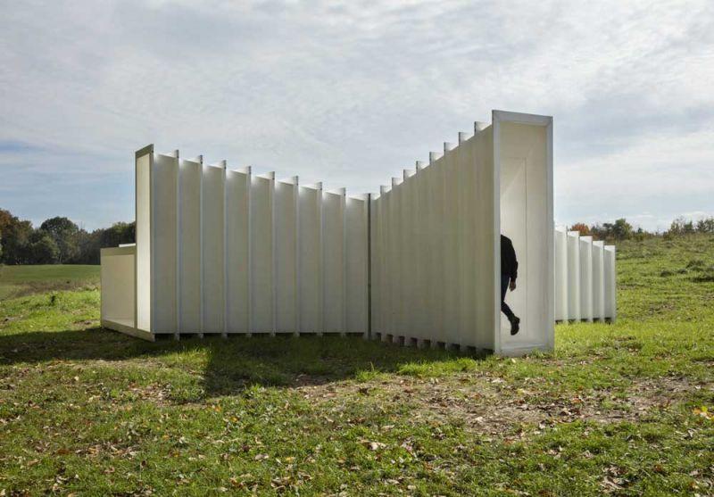 arquitectura Levenbetts Zoid Pabellon experimental Art Omi fotografia Richard Barnes acceso