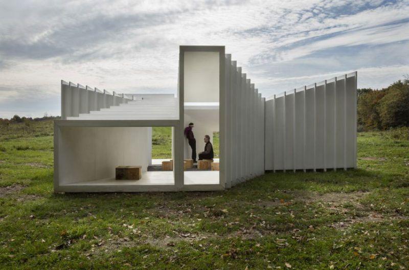 arquitectura Levenbetts Zoid Pabellon experimental Art Omi fotografia Richard Barnes exterior general