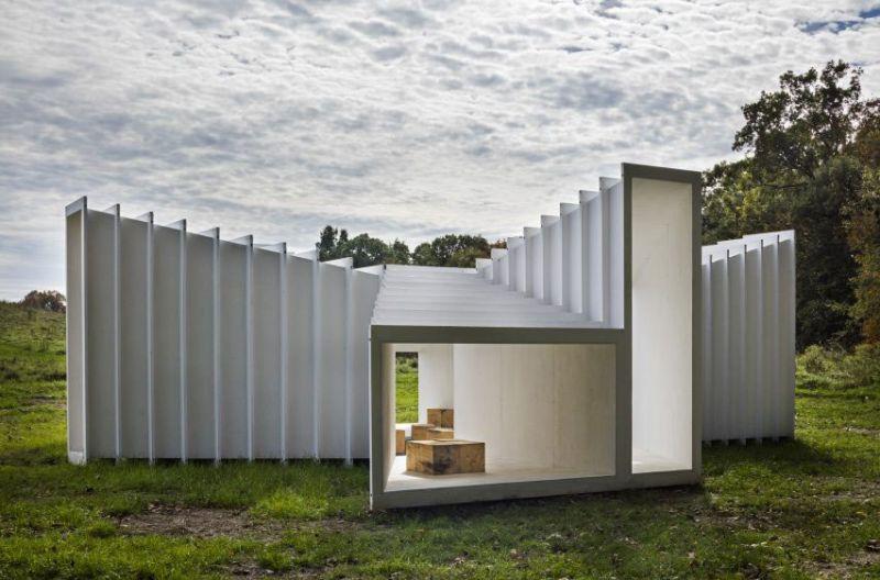 arquitectura Levenbetts Zoid Pabellon experimental Art Omi fotografia Richard Barnes exterior