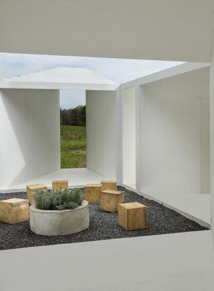 arquitectura Levenbetts Zoid Pabellon experimental Art Omi fotografia Richard Barnes patio