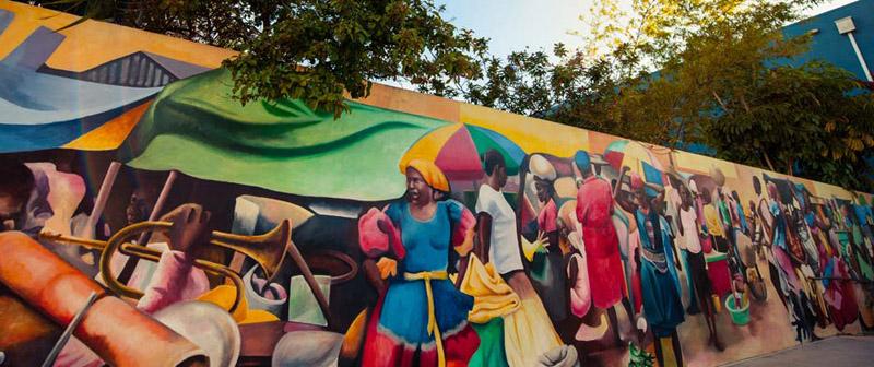 Mural en zona de Little haiti