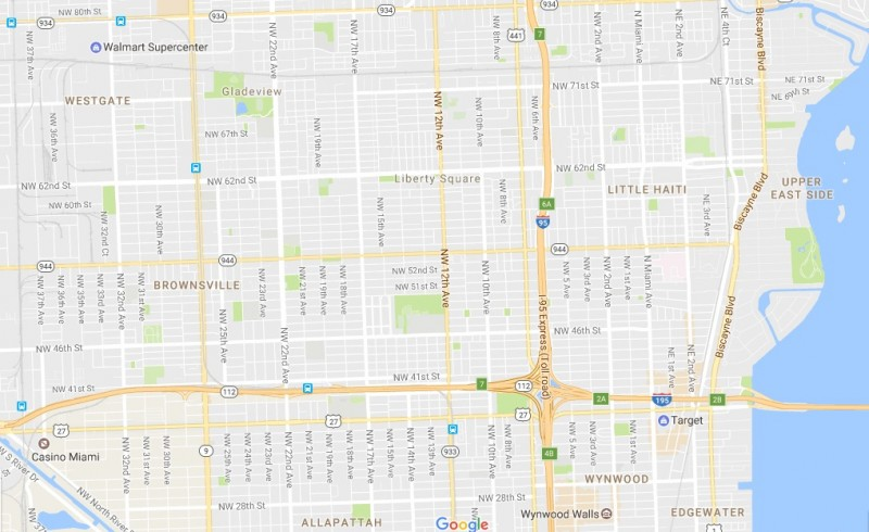 Plano de calles Miami
