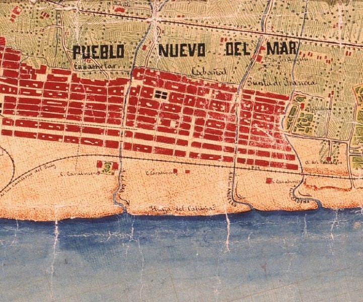 Plano antiguo Cabanyal