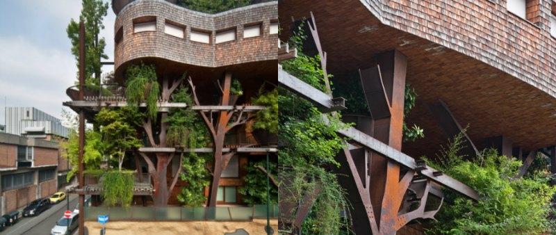 arquitectura, arquitecto, diseño, design, Luciano Pia, Italia, Turín, casa árbol, 25 Verde, estructura acero, árboles, sostenible, sostenibilidad, ecología, ecológico, viviendas, edificio, apartamentos, casa, ciudad, 25 Green