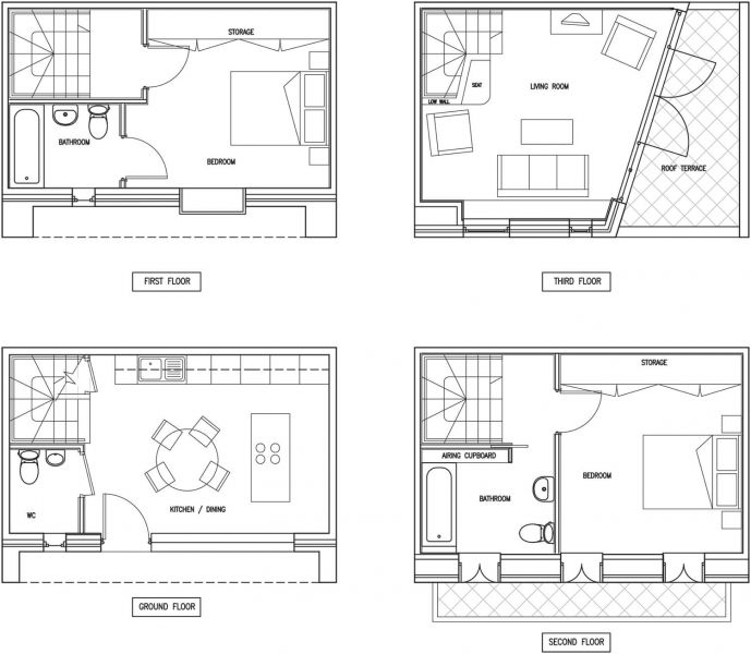 arquitectura_Macgrath road_peter barber_planta tipo 2 dormitorios
